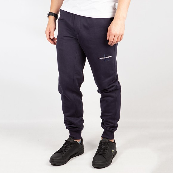 Calvin Klein Jeans Mens Blue Off Placed Iconic Jogger