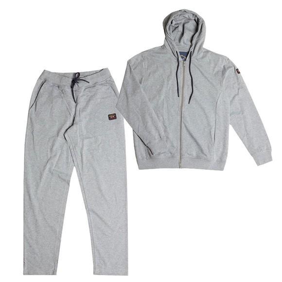 Paul & Shark Mens Grey Full Zip Hooded Tracksuit