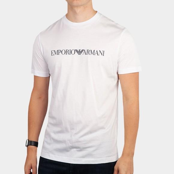 Emporio Armani Mens White Essential Logo T-Shirt