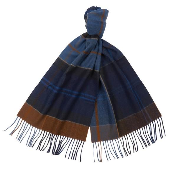 Barbour Lifestyle Mens Blue Inverness Tartan Scarf main image