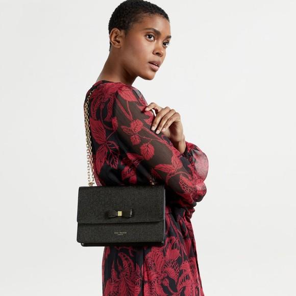 Ted Baker Womens Black Arttie Bow X-Body Bag