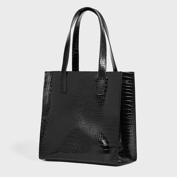 Ted Baker Womens Black Reptcon Croc Detail Small Icon Bag main image