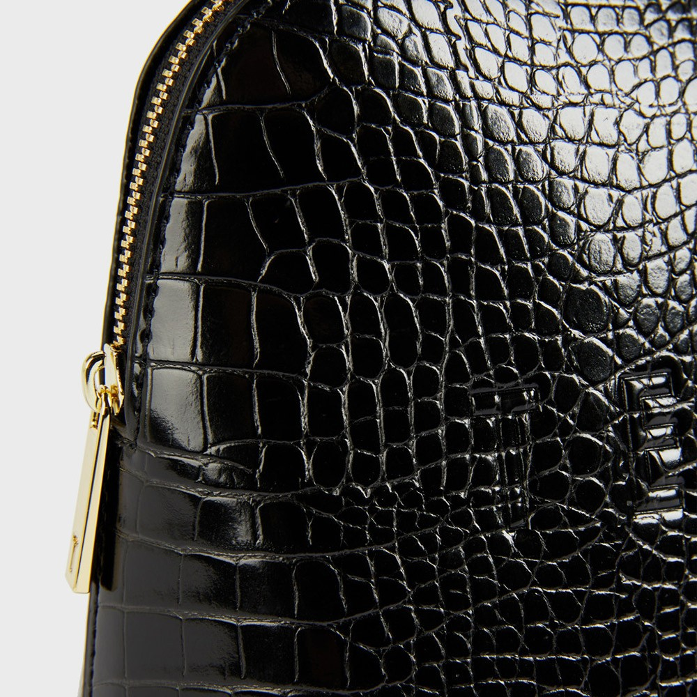 Crocana Croc Detail Debossed Washbag main image