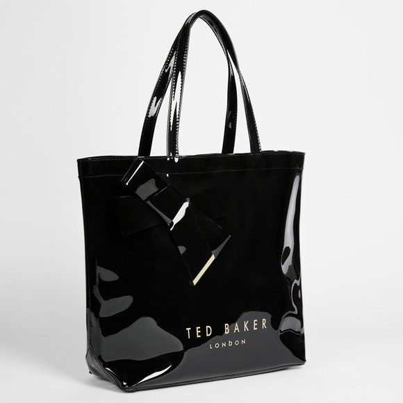 Ted Baker Womens Black Nicon Knot Bow Large Icon Bag