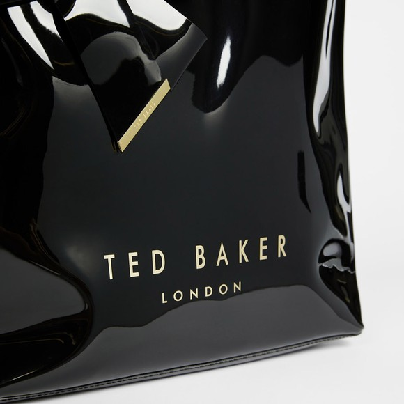 Ted Baker Womens Black Nicon Knot Bow Large Icon Bag main image