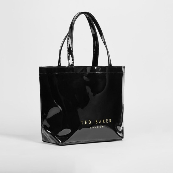 Ted Baker Womens Black Nikicon Knot Bow Small Icon Tote Bag main image
