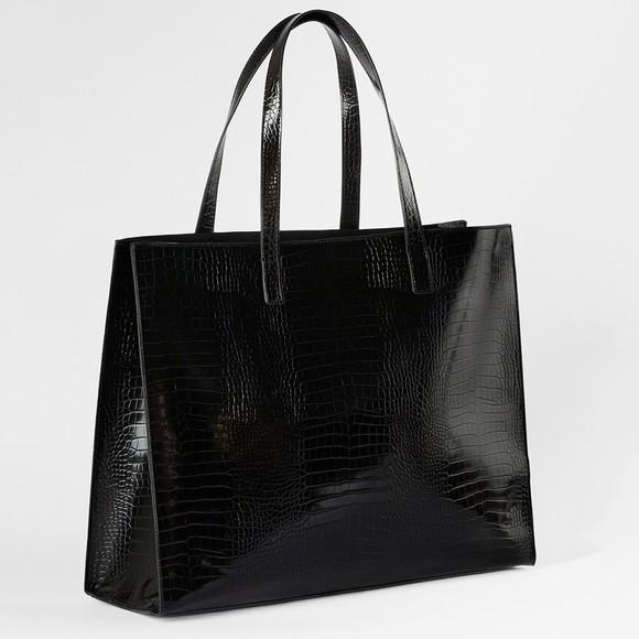 Ted Baker Womens Black Allicon Croc Detail EW Icon Bag main image