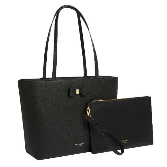 Ted Baker Womens Black Aveeda Bow Shopper Bag