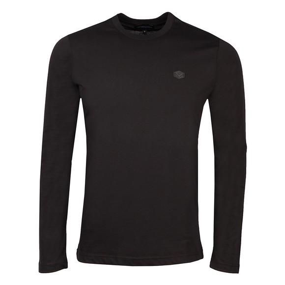 Emporio Armani Mens Black Small Crest Long Sleeve T Shirt