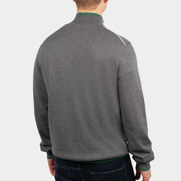 BOSS Mens Grey Athleisure Zitom Half Zip Jumper main image