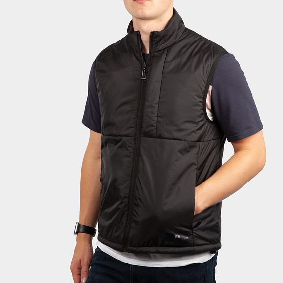 PS Paul Smith Mens Black Wadded Reversible Gilet