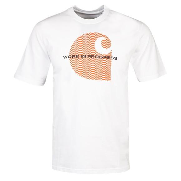 Carhartt WIP Mens White Wave C T-Shirt