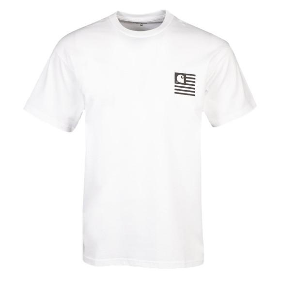 Carhartt WIP Mens White Fade State T-Shirt