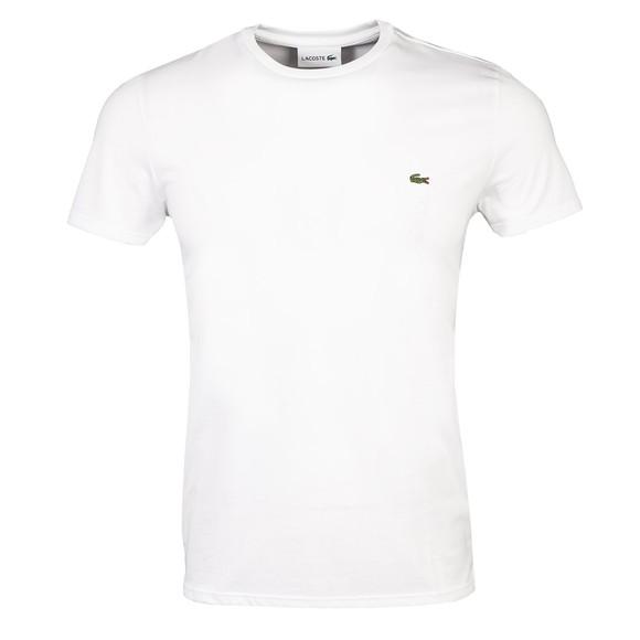Lacoste Mens White TH6709 Pima Cotton T-Shirt