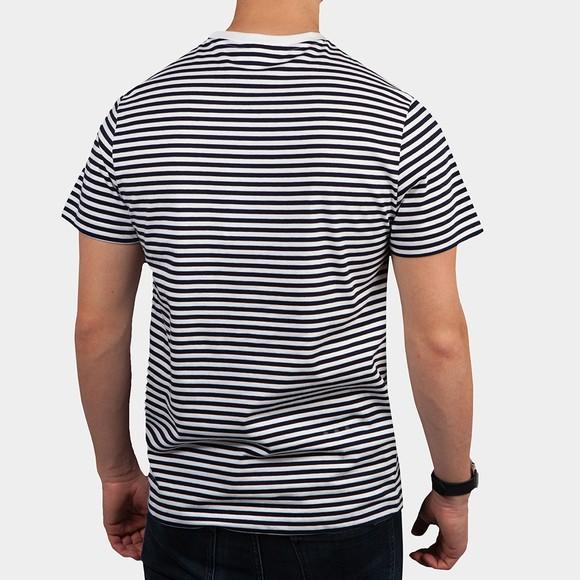 Lacoste Mens White TH7095 Stripe T-Shirt main image