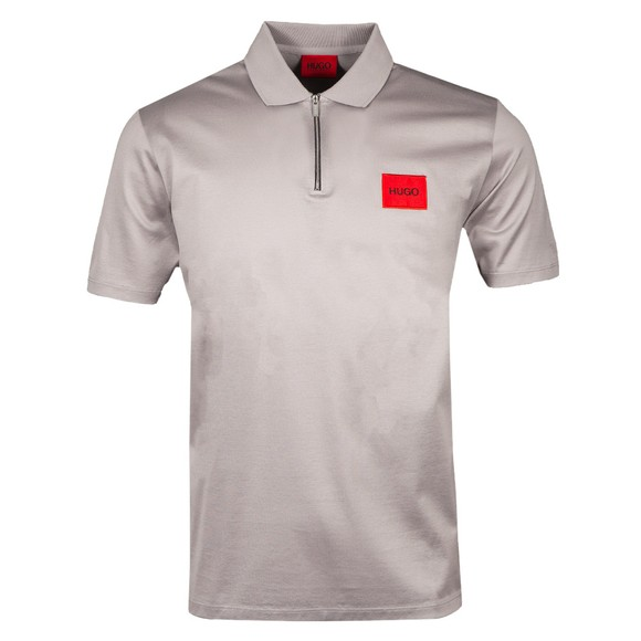 HUGO Mens Silver Deresom Polo Shirt