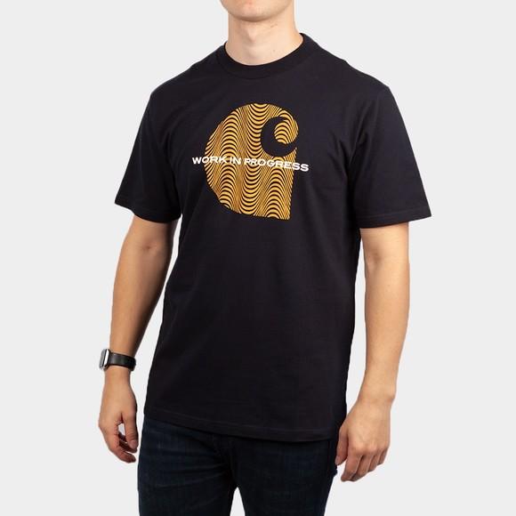 Carhartt WIP Mens Blue Wave C T-Shirt