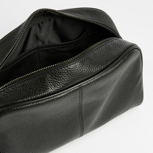Ted Baker Mens Black Clings Leather Washbag main image