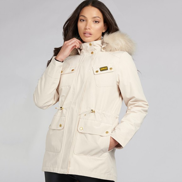 Barbour International Womens Off-White Wanneroo Jacket