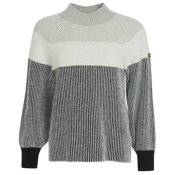 Barbour International Womens Grey Picard Knit
