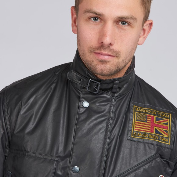 Barbour Int. Steve McQueen Mens Black Vintage Joshua A7 Casual Jacket main image
