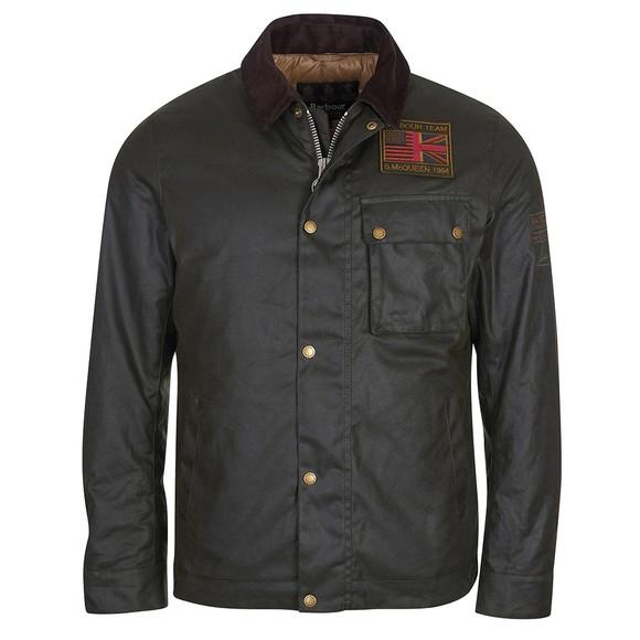 Barbour Int. Steve McQueen Mens Green Workers Wax Jacket