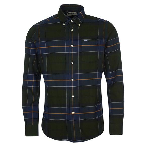 Barbour Lifestyle Mens Green Lutsleigh Shirt