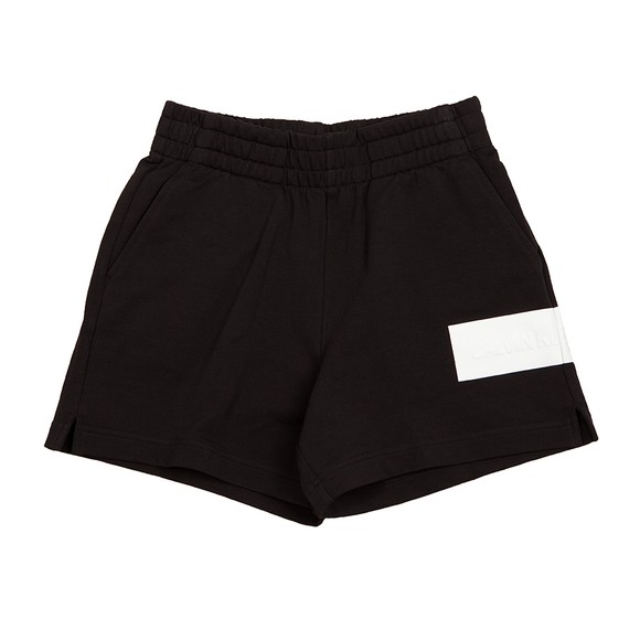 Calvin Klein Jeans Womens Black Hero Logo Jersey Short