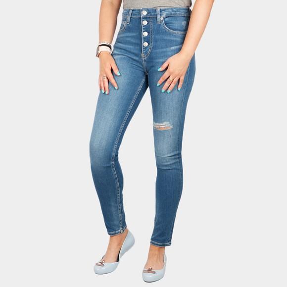 Calvin Klein Jeans Womens Blue High Rise Skinny Jean
