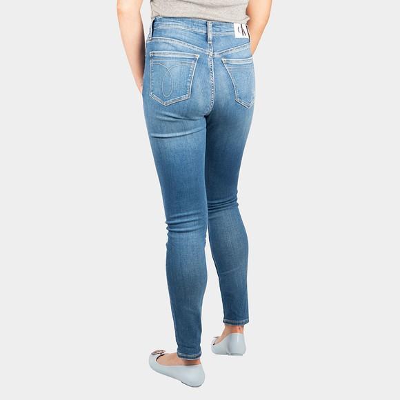 Calvin Klein Jeans Womens Blue High Rise Skinny Jean main image