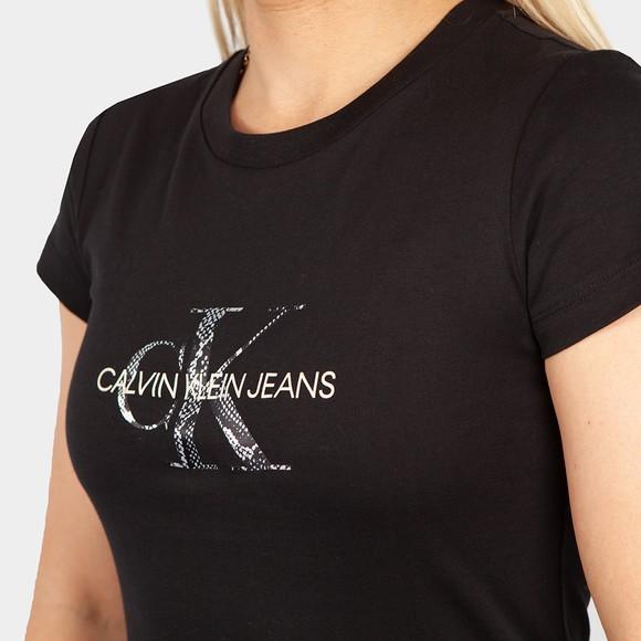 Calvin Klein Jeans Womens Black Filled Monogram T Shirt main image