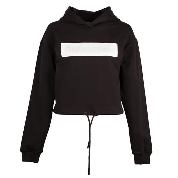 Calvin Klein Jeans Womens Black Hero Logo Hoody