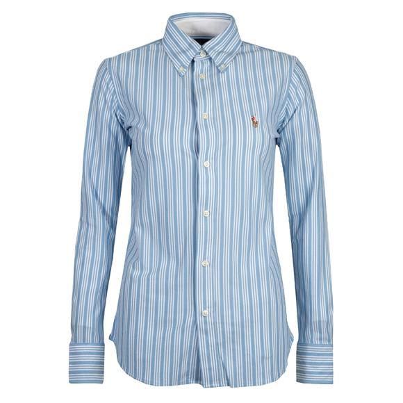 Polo Ralph Lauren Womens Blue Heidi Stripe Shirt