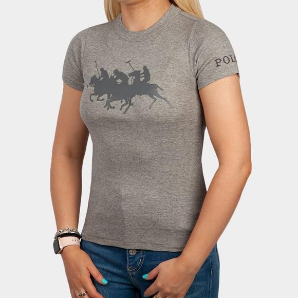 Polo Ralph Lauren Womens Grey Match Cotton T-Shirt