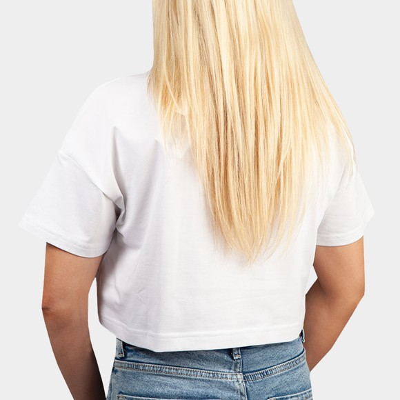 Calvin Klein Jeans Womens White Hero Logo Crop Top main image