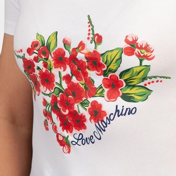 Love Moschino Womens White Roses & Petals Top main image