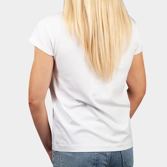 Love Moschino Womens White Pocket Multi Heart T-Shirt main image