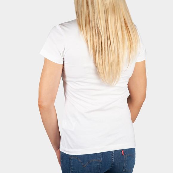 Calvin Klein Jeans Womens White Filled Monogram T Shirt main image