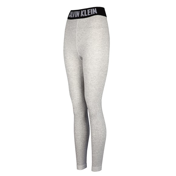 Calvin Klein Womens Grey Waist Logo Legging