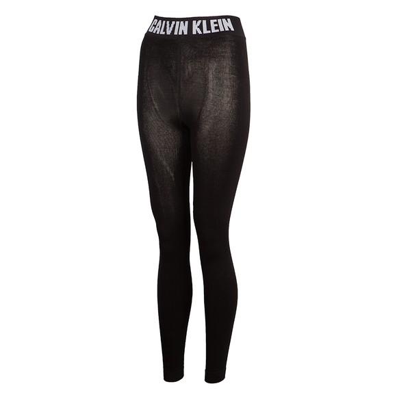 Calvin Klein Womens Black Waist Logo Legging