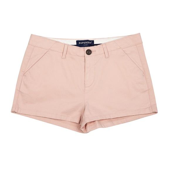 Superdry Womens Pink Chino Hot Short