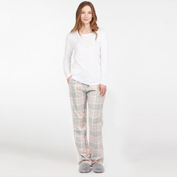 Barbour Lifestyle Womens White Phoebe Pyjama Set