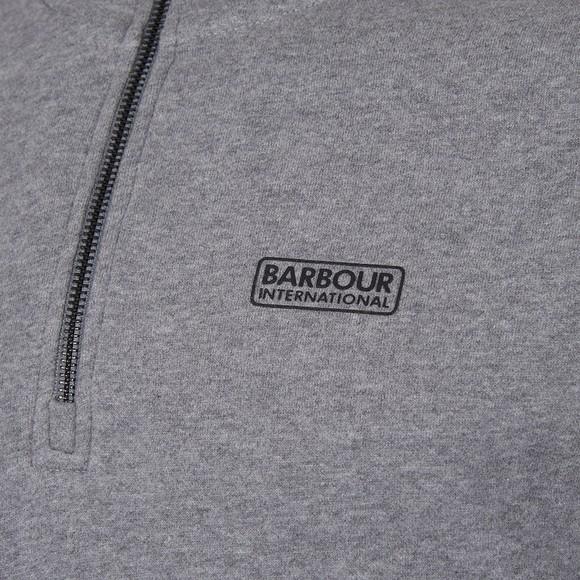 Barbour International Mens Grey 1/2 Zip Sweatshirt main image