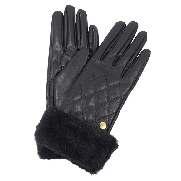 Barbour International Womens Black Podium Gloves