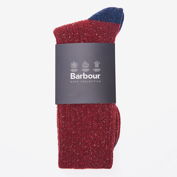 Barbour Lifestyle Mens Red Houghton Sock
