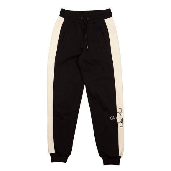 Calvin Klein Jeans Womens Black Monogram Blocking Jogger