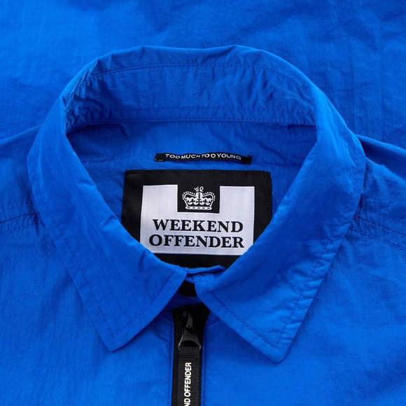 Weekend Offender Mens Blue Nicky Eyes Overshirt
