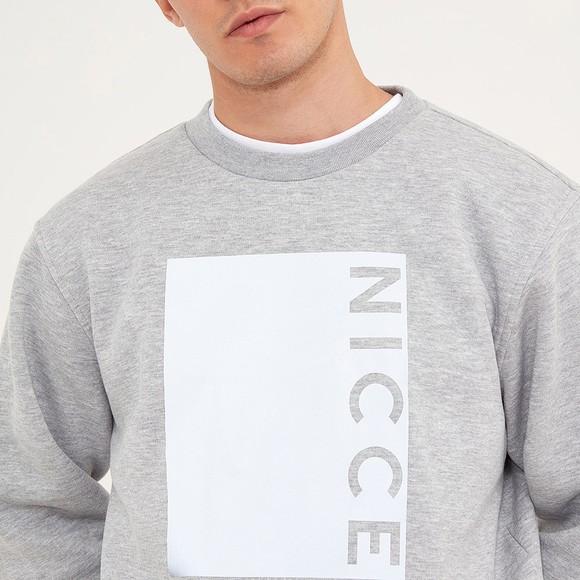 Nicce Mens Grey Cube Sweatshirt main image