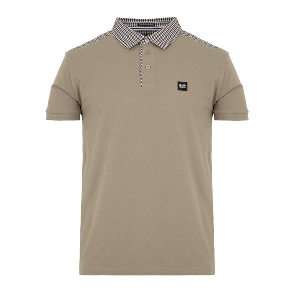 Weekend Offender Mens Beige Costa Polo Shirt main image