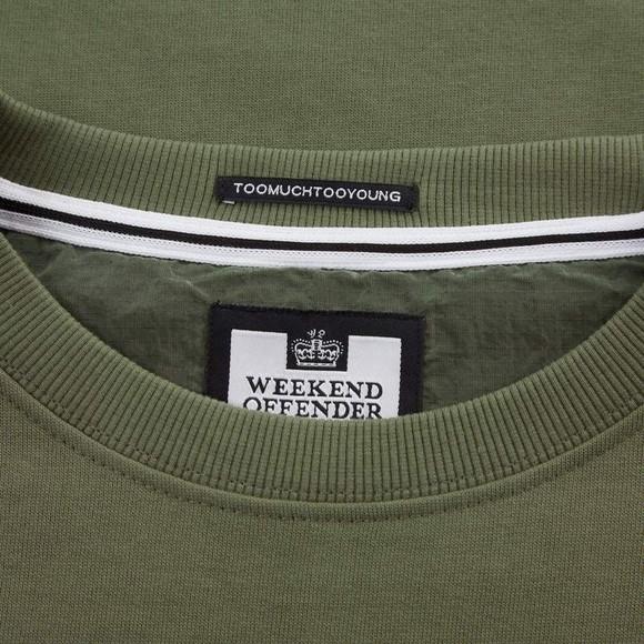 Weekend Offender Mens Green F Bomb Sweatshirt main image